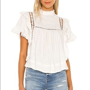 Le Femme Tee in Ivory Free People